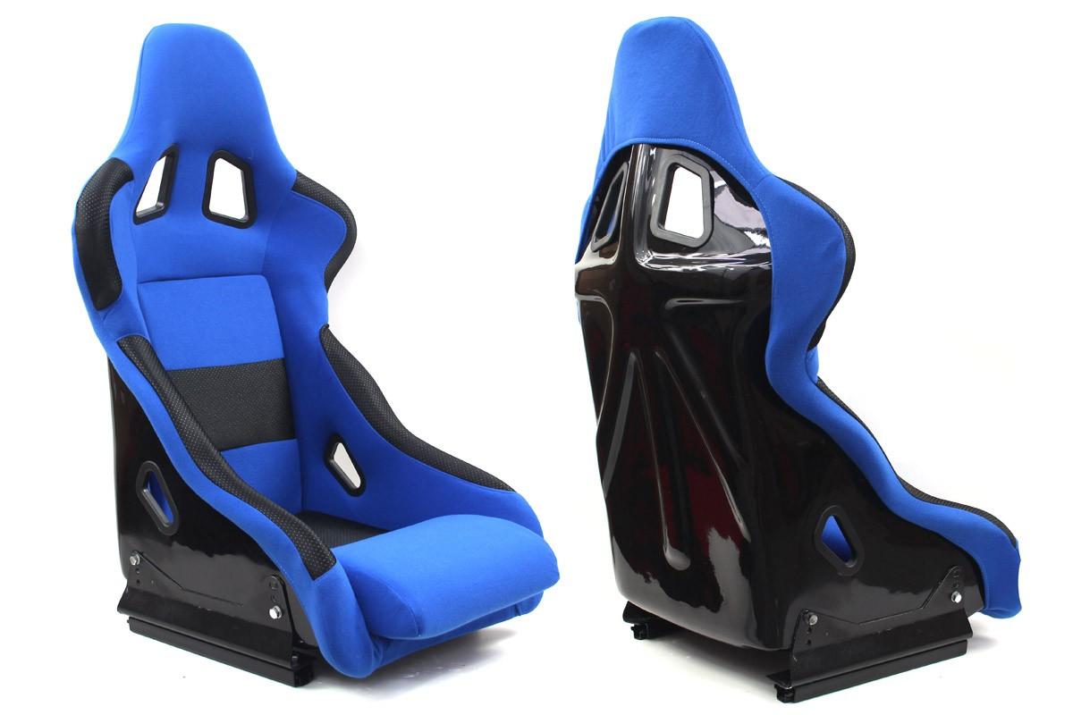 Fotel sportowy RICO Welur Blue - GRUBYGARAGE - Sklep Tuningowy